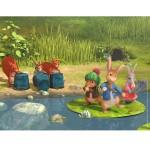 Puzzle 30 pièces : Pierre lapin - Au bord de la rivière