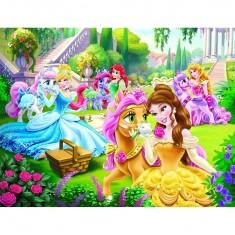 Puzzle 30 pièces : Princesses Disney : Nos petits poneys