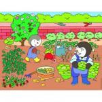 Puzzle 30 pièces : T'choupi au potager