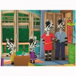 Puzzle 30 pièces : Zou en famille