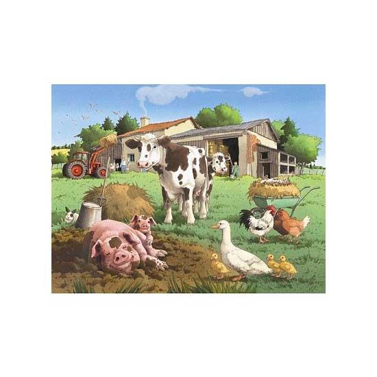 Puzzle 30 pièces - Journée à la ferme - Nathan-Ravensburger-86301