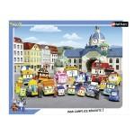 Puzzle 35 pièces : Robocar Poli : Bienvenue à Vroum Ville