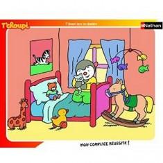 Puzzle cadre - 35 pièces - T'Choupi : Au lit