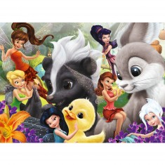 Puzzle 45 pièces : Disney les fées - Clochette, Les amis des fées