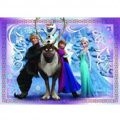 Puzzle 45 pièces :  La Reine des Neiges (Frozen) : Un équipe formidable