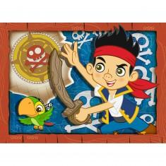 Puzzle 45 pièces : Jack et les pirates A l'attaque !