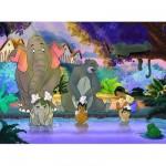 Puzzle 45 pièces : Le livre de la jungle : Le bain