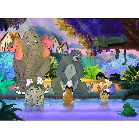 Puzzle 45 pièces : Le livre de la jungle : Le bain - Nathan-Ravensburger-86492