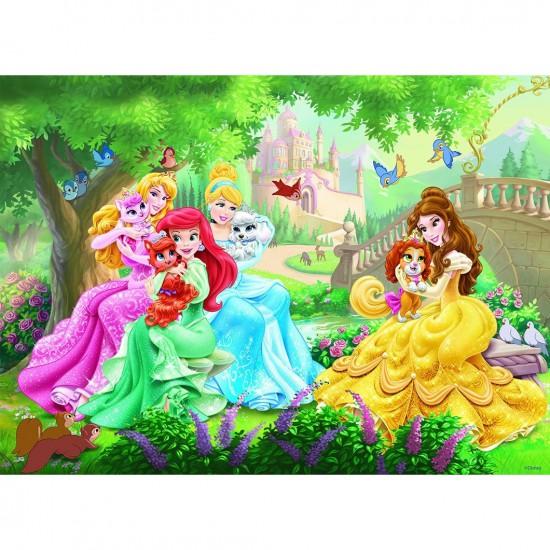 Puzzle 45 pièces : Princesses Disney : Pause tendresse - Nathan-Ravensburger-86523