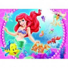 Puzzle 45 pièces : Princesses Disney : Rencontre avec Ariel