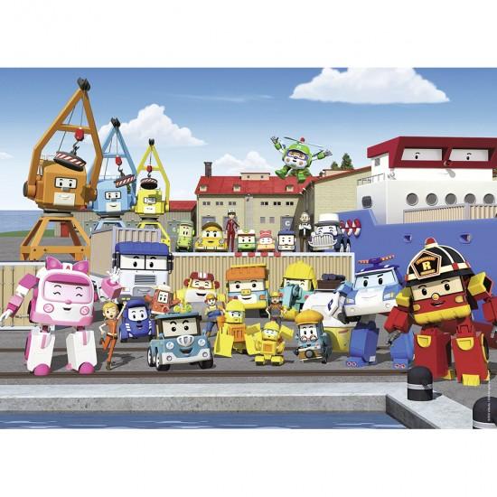 Puzzle 45 pièces : Robocar Poli - Nathan-Ravensburger-86453