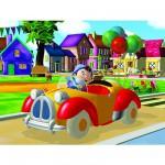 Puzzle 45 pièces - Oui Oui : Petit tour en voiture