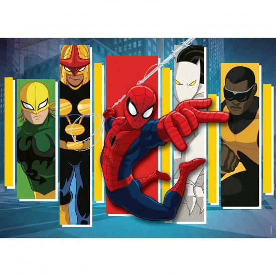 Puzzle 45 pièces Spiderman : Equipe des héros - Nathan-Ravensburger-86520
