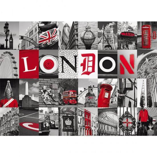 Puzzle 500 pièces - Souvenirs de Londres - Nathan-Ravensburger-87210