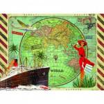 Puzzle 500 pièces : Collection Artiste : Tour du monde par Gwenaëlle Trolez