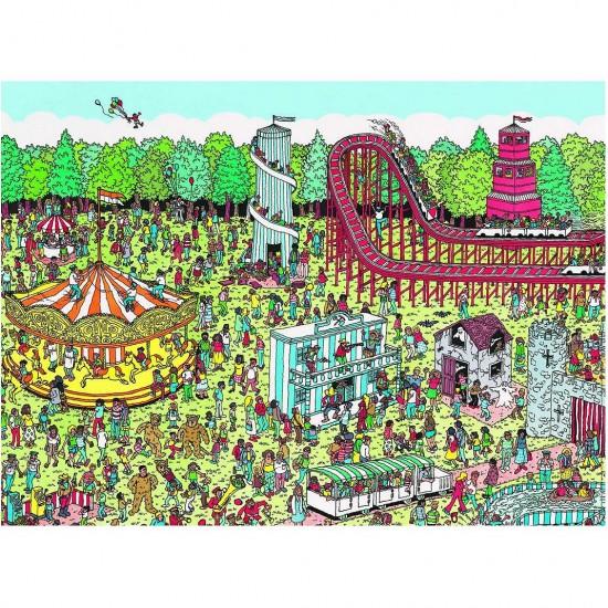 Puzzle 500 pièces : Où est Charlie ? : A la Fête Foraine - Nathan-Ravensburger-87114