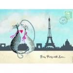 Puzzle 500 pièces : Paris en amoureux