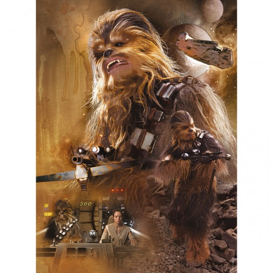 Puzzle 500 pièces : Chewbacca - Star Wars 7 - Nathan-Ravensburger-87214