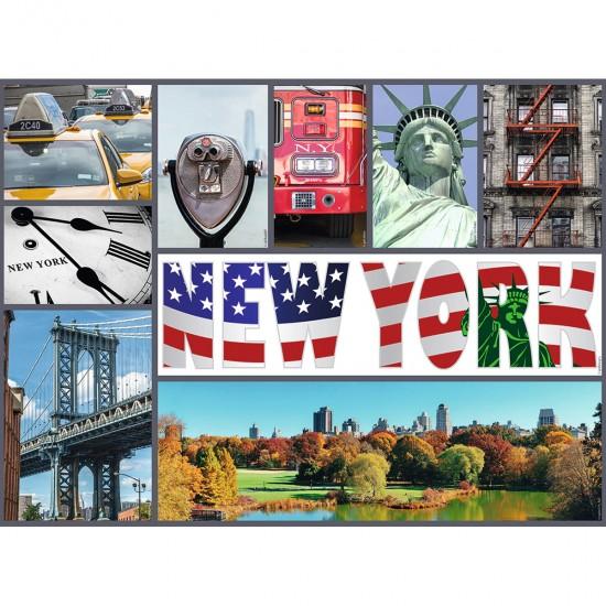 Puzzle 500 pièces : Escapade à New York - Nathan-Ravensburger-87229