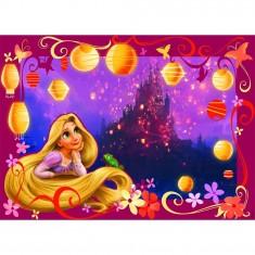 Puzzle 100 pièces - Raiponce : Le rêve d'une princesse