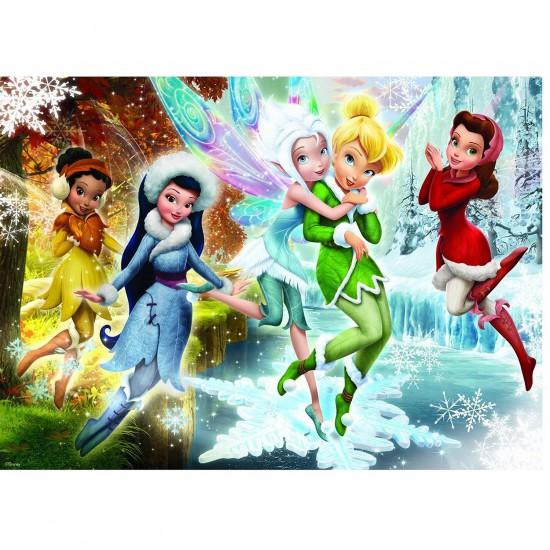 Puzzle 60 pièces : Disney Fairies Les fées des glaces - Nathan-Ravensburger-86627