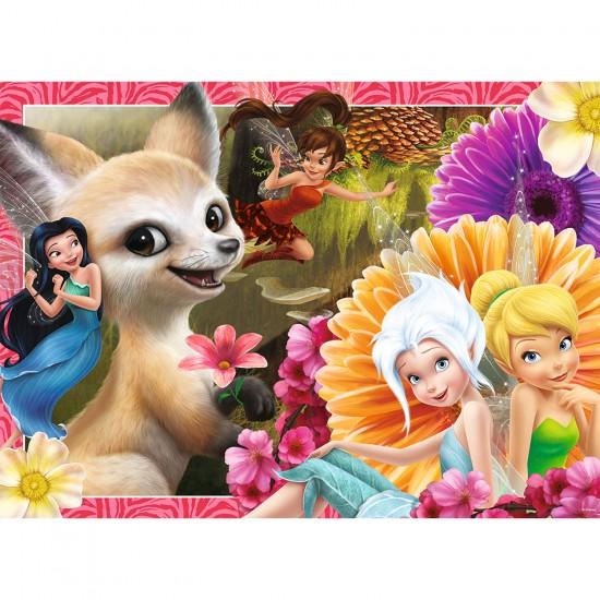 Puzzle 60 pièces : Disney les fées - Clochette, Découverte des créatures - Nathan-Ravensburger-86638