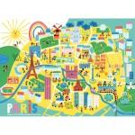 Puzzle 60 pièces : Plan de Paris