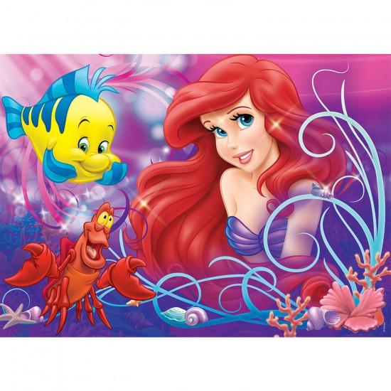 Puzzle 60 pièces Ariel : Jolie petite sirène - Nathan-Ravensburger-86634