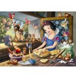 Puzzle 60 pièces - Blanche Neige fait de la pâtisserie