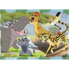 Puzzle 60 pièces : La garde du roi lion