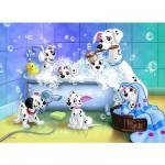 Puzzle 60 pièces - Les 101 Dalmatiens : Tous au bain