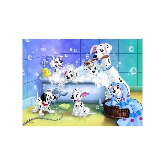 Puzzle 60 pièces - Les 101 Dalmatiens : Tous au bain - Nathan-Ravensburger-86612