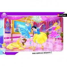 Puzzle cadre - 15 pièces - Princesses Disney : Le ballet des princesses