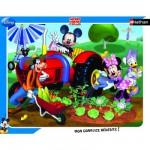 Puzzle cadre - 35 pièces - Mickey : Mickey et ses amis au jardin
