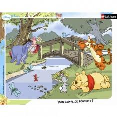 Puzzle cadre - 35 pièces - Winnie l'ourson : Petit moment de détente
