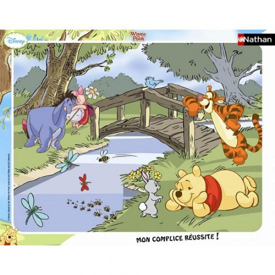 Puzzle cadre - 35 pièces - Winnie l'ourson : Petit moment de détente - Nathan-Ravensburger-86051
