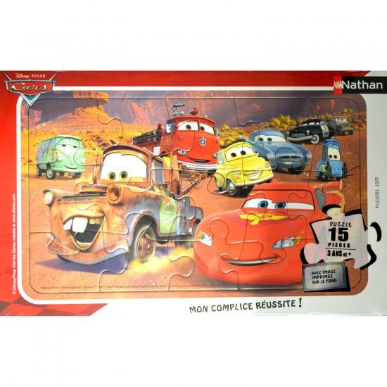 Puzzle cadre 15 pièces : Le monde de Cars - Nathan-Ravensburger-86115