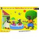 Puzzle cadre 15 pièces : Petit Ours Brun : Jeu d'eau