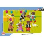 Puzzle cadre 15 pièces : Petit Ours Brun - C'est la fête