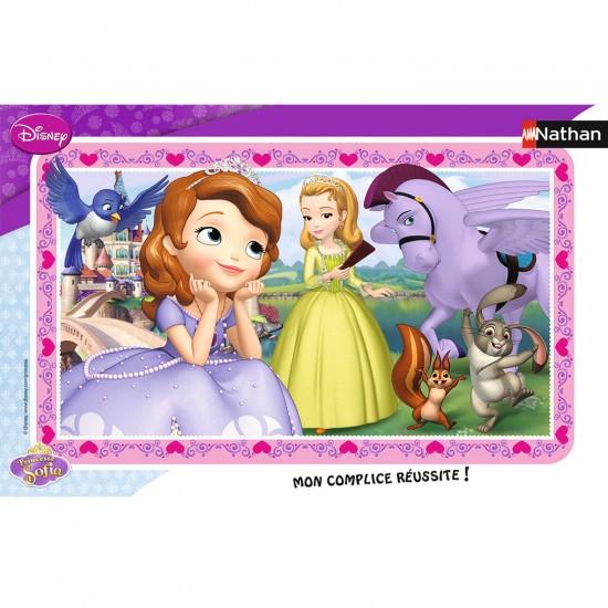 Puzzle cadre 15 pièces : Princesse Sofia - Sofia rêveuse - Nathan-Ravensburger-86118