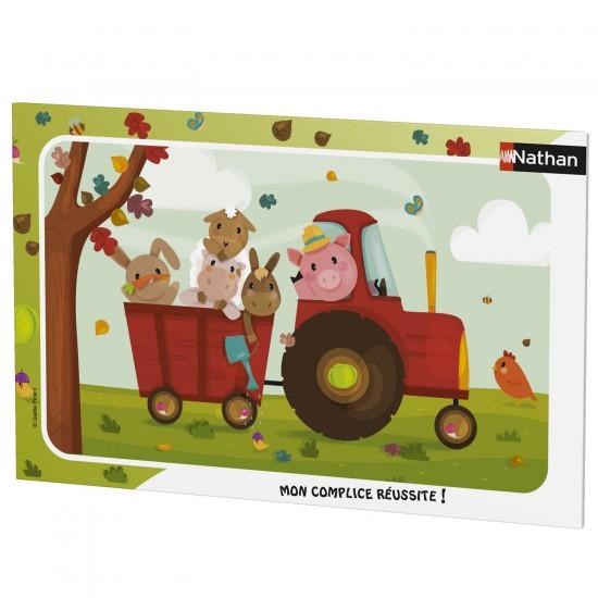 Puzzle cadre 15 pièces : Bienvenue à la ferme - Nathan-Ravensburger-86015