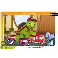 Puzzle cadre - 15 pièces - Franklin : Franklin joue au pompier