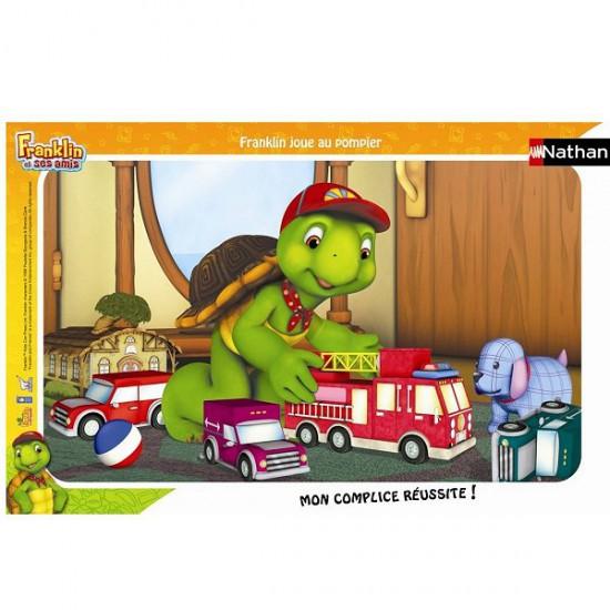 Puzzle cadre - 15 pièces - Franklin : Franklin joue au pompier - Nathan-Ravensburger-86098