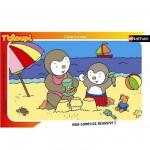 Puzzle cadre - 15 pièces - T'Choupi : T'Choupi à la plage