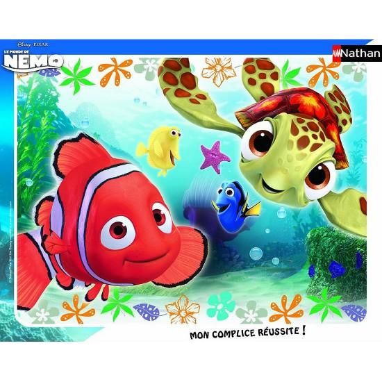 Puzzle cadre 35 pièces : Le monde de Nemo : Nemo et Squiz - Nathan-Ravensburger-86106