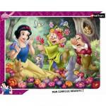 Puzzle cadre 35 pièces - Blanche-Neige en fleur