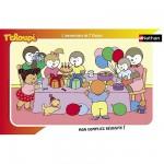 Puzzle Cadre - 15 pièces - Le gâteau d'anniversaire de T'Choupi