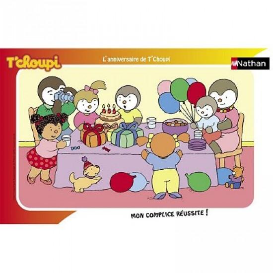 Puzzle Cadre - 15 pièces - Le gâteau d'anniversaire de T'Choupi - Nathan-Ravensburger-86003