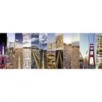 Puzzle Panoramique 500 pièces : Sur la Route
