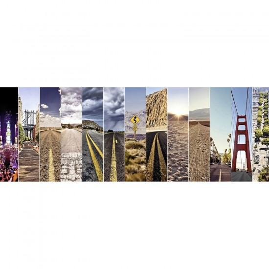 Puzzle Panoramique 500 pièces : Sur la Route - Nathan-Ravensburger-87213
